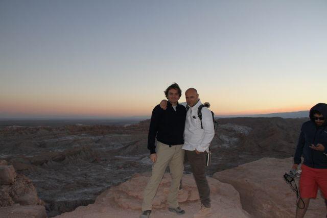 Con Esteban, testigos de una puesta de Sol Bellísima