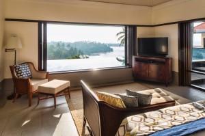 Cape Weligama Residence upper bedroom & pool 2