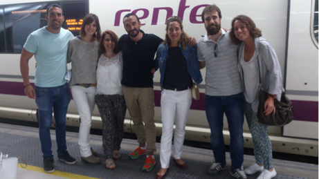 Aunque sonreímos, estamos tristísimos porque hay que volver a Madrid. ¡Que viajazo!